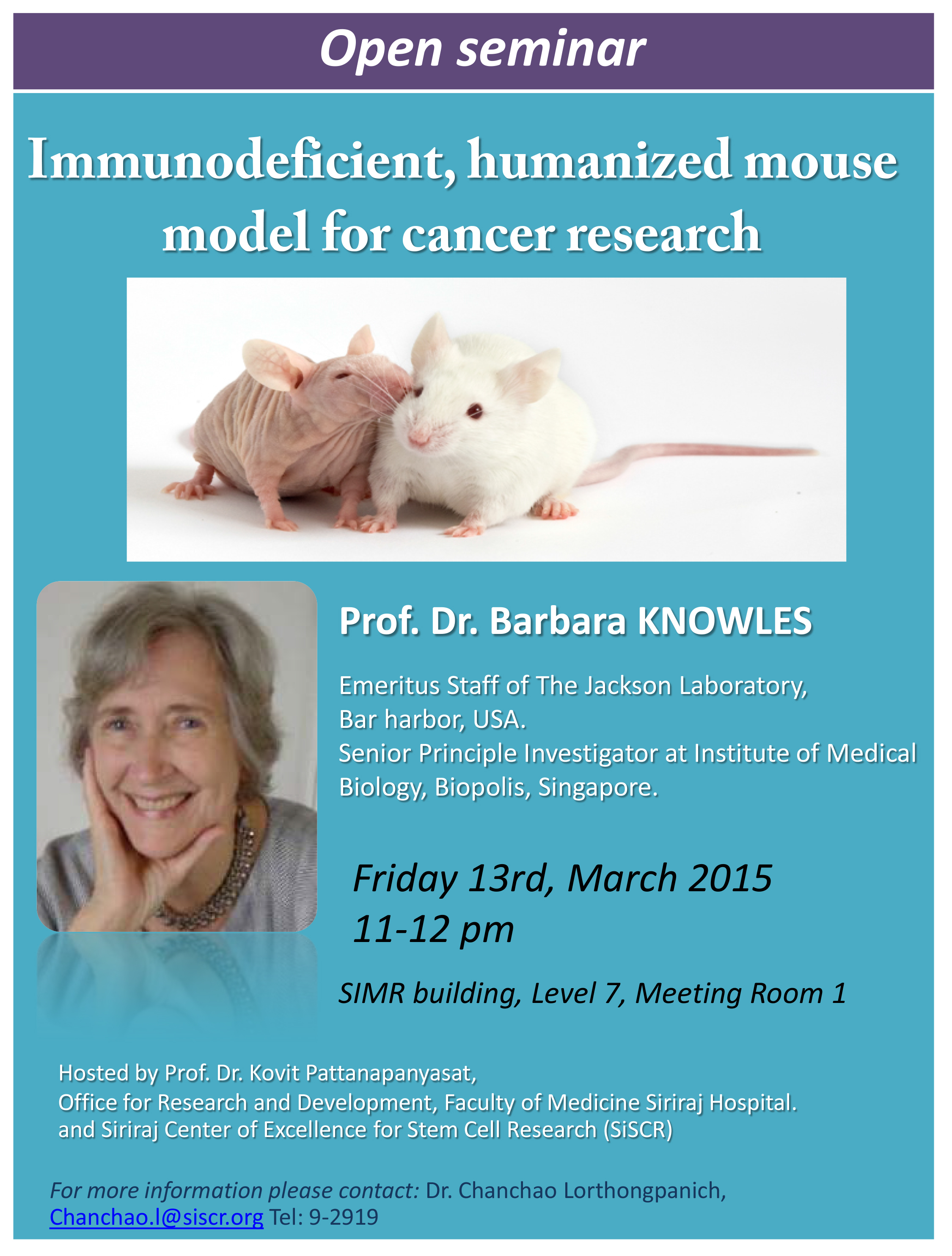 Immunodeficient, humanized mouse model for cancer researchImmunodeficient, humanized mouse model for cancer research