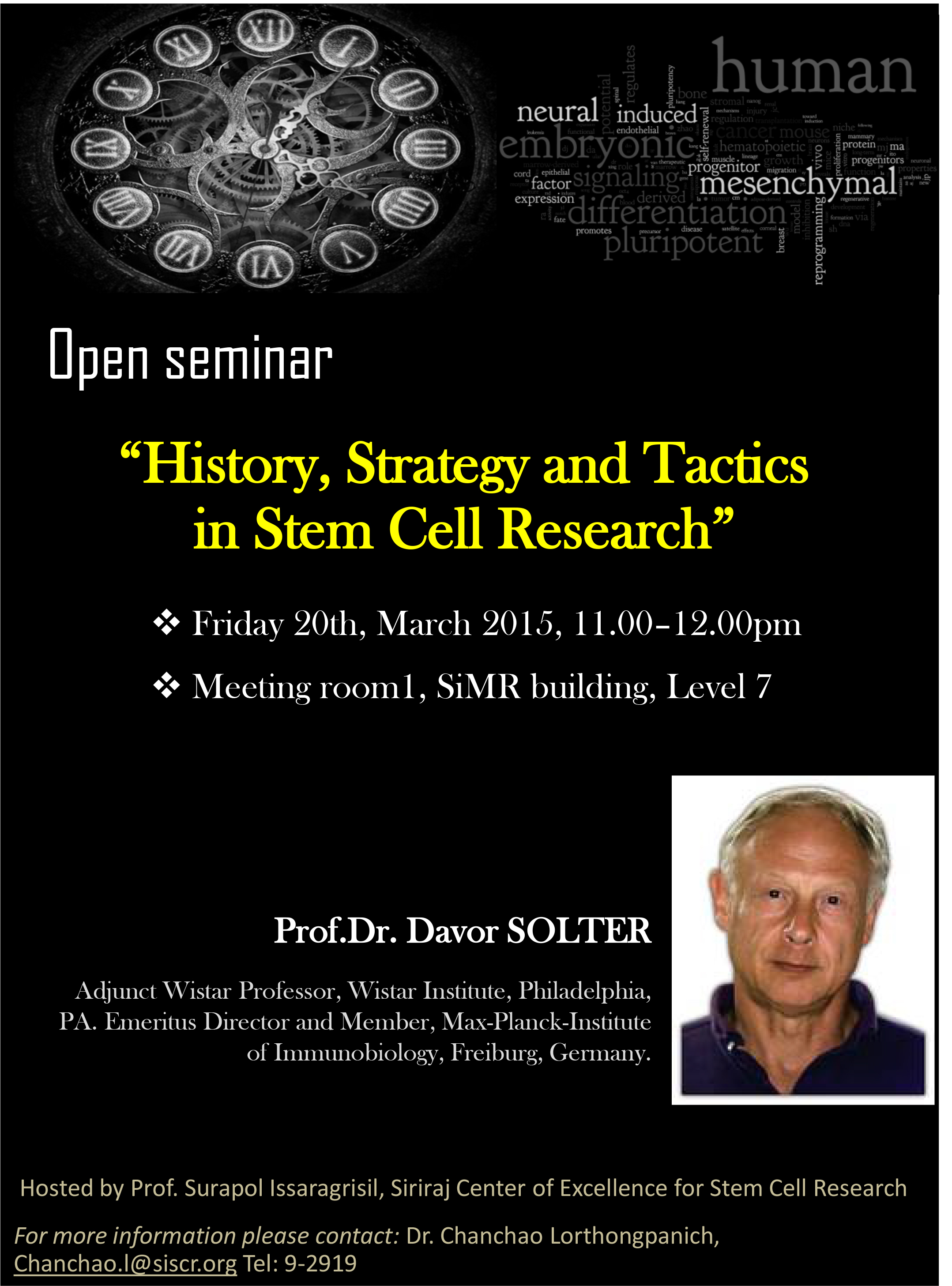 History, Strategy and  Tactics in Stem Cell ResearchHistory, Strategy and  Tactics in Stem Cell Research